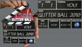 PRINT / EXPERIENTIAL: Corporate event materials: IGD clapperboard invitations