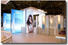 EXPERIENTIAL: Trade show stands: Philips Sonicare. AN AWARD WINNER!