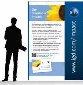 EXPERIENTIAL: Exhibition stand graphics: IGD Impact campaign