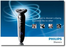 PRINT / EXPERIENTIAL: Evaluation brochure: Philips Shavers