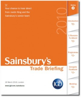 E-MARKETING/COMMS: Interactive sales brochure [concept]: IGD trade briefing