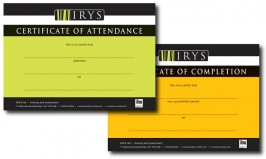 BRAND / PRINT: Certificates: IRYS