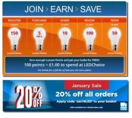E-MARKETING / ADVERTISING: Web banners: LEDChoice
