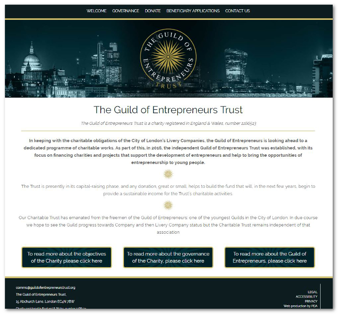 GoE Trust website